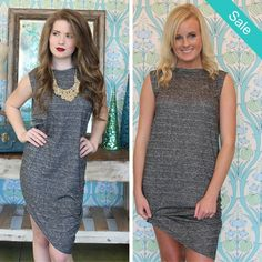 Stand Out Asymmetrical Dress - On Sale for $17.50 (was $35.00)