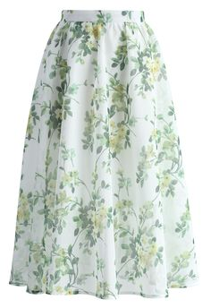 Meadow Serenades A-line Midi Skirt - New Arrivals - Retro, Indie and Unique Fashion
