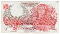 """Nederland - 25 gulden 1947 """"Flora"""" - mevius 81-1"""