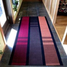 """Warp rep rug, 38"""" x 78"""""""