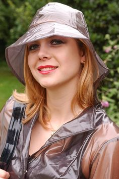 KEMO-Cyberfashion Online store for PVC, Plastic and vinyl clothing made from Unbacked PVC, Stretch PVC, Plastic, Vinyl and Rubber - Rain Hat PVC Red Raincoat, Vinyl Raincoat, Plastic Raincoat, Rain Bonnet, Rain Fashion, Women's Fashion, Vinyl Clothing, Rubber Raincoats, Rain Hat
