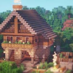 ログハウス。 - Minecraft, Pubg, Lol and Minecraft World, Villa Minecraft, Plans Minecraft, Architecture Minecraft, Casa Medieval Minecraft, Images Minecraft, Minecraft Houses Survival, Minecraft Structures, Easy Minecraft Houses