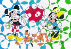 Mickey,Pluto And Minnie Disney by filipeoliveira.deviantart.com on @DeviantArt