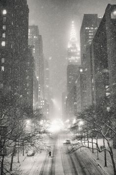 New York Winter - Snow and the Chrysler Building by Vivienne Gucwa on 500px