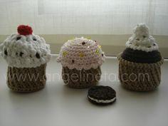 Fet per l'Angelina per un monogràfic que vam fer a la botiga Cupcakes, Desserts, Amigurumi, Tejidos, Tailgate Desserts, Cupcake Cakes, Deserts, Postres, Dessert