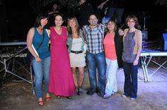 L'Eva, els amics i la Laura Bertran. Foto: Ajuntament de Lloret.