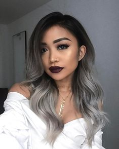 If you would like to make your blue ombre hair pop, you need to always try to remember that braids are the very best. In conclusion, blue ombre hair Black To Grey Ombre Hair, Silver Ombre Hair, Ombre Hair Color, Hair Color Balayage, Hair Color For Black Hair, Black And Silver Hair, Black Hair With Grey Highlights, Black Balayage, Grey Hombre Hair