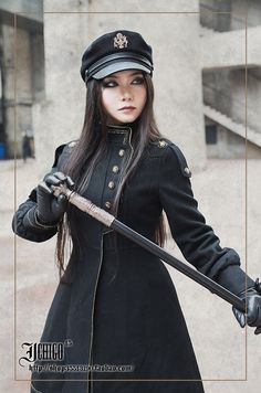 High quality Lolita Navy Dark Blue plush Thick Dress Coat with Shawl Free ship
