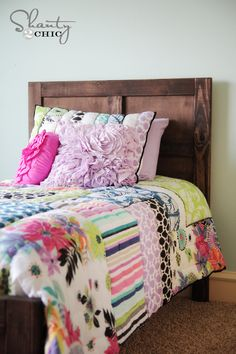 DIY: Rustic bed and trundle ~ lots of tips and photo's ~  From::Shanty2Chic~ Pottery Barn Kids DIY Bed