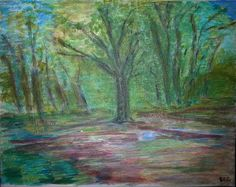 Forest (based on Per Kirkeby) (acrylic on canvas - 25/03/15)