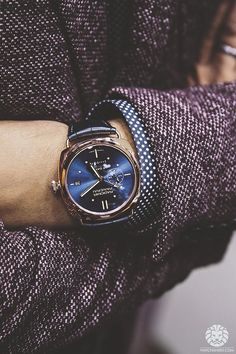 Panerai watch, love the blue dial #style