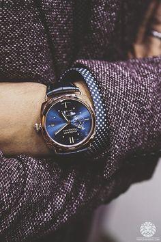 Panerai watch, love the blue dial