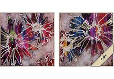 picture of Floral Kick Set of 2 Artwork from Wall Decor Furniture