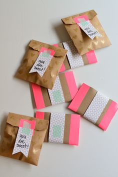 Easy gift giving with store bought treats