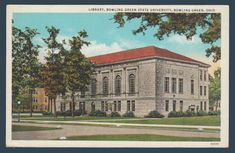 Postcards - United States #  911 - The Library at Bowling Green University, Bowling Green, Ohio
