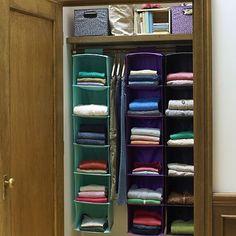 Hanging Closet Organizer #potterybarnteen
