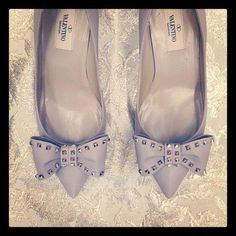 515e6778e9 Seventeen Editor Maura s Valentino rockstud wedding shoes!  Valentino Shoes  Heels