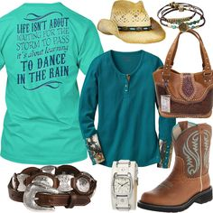 Dance In The Rain Legendary Whitetails Henley Outfit - Real Country Ladies