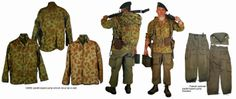 One of the many variations of uniform used by French Paratroopers in Indo-China. Based around a USMC Camo jacket
