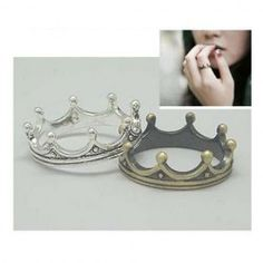 Fashion and Vintage Style Crown Shape Design Finger Ring