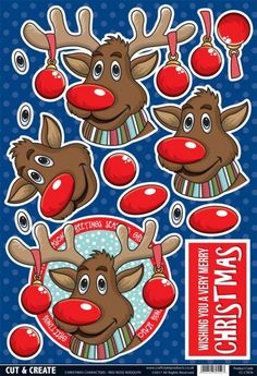 Buzzcraft Christmas Characters Cut & Create - Red Nose Rudolph