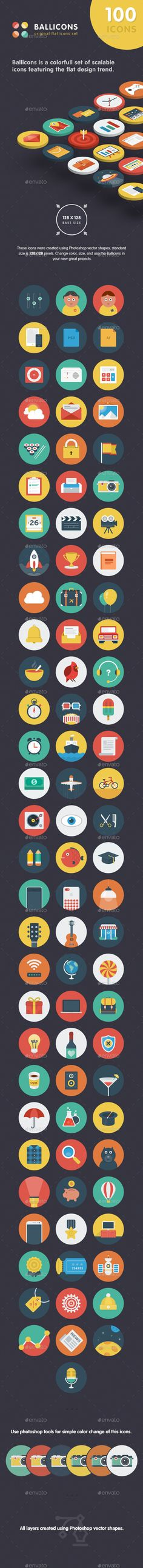Ballicons Flat Icons Collection #design Download: http://graphicriver.net/item/ballicons-flat-icons-collection/13840606?ref=ksioks