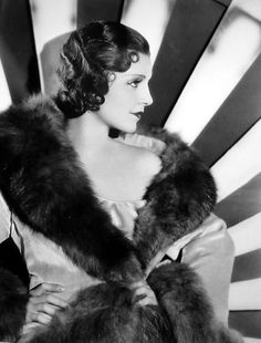 Peggy Shannon  #vintage #fashion #fur #deco