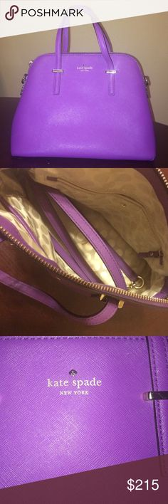 Kate Spade Cedar Street Maise Used! But in VERY good condition. (1) small stain on the inside (refer to 2nd picture) includes cross body strap. I believe the color is African Violet. NO TRADES kate spade Bags Crossbody Bags