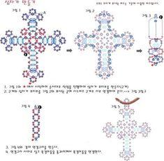 Simple beaded Cross PATTERN  seed. scroll down