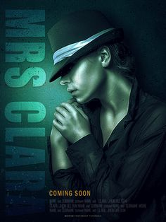 Learn how to create movie posters with cyan textures and sharp details in Photoshop.