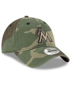 new styles 7a061 741a5 New Era Miami Marlins Camo Core Classic 9TWENTY Cap - Green Adjustable