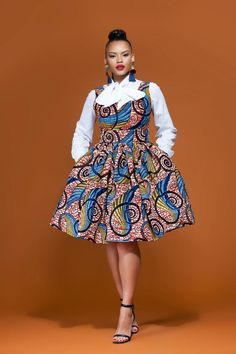 African Print Seyi Corset Dress