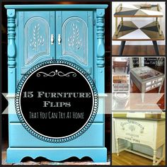 15+ Furniture Paint Projects that YOU can do. By SnazzyLittleThings.com