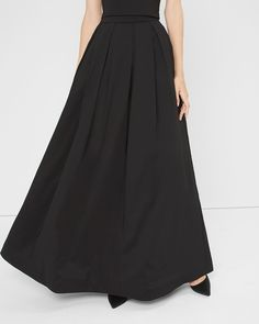 "$160.00- We took the classic ball gown and reimagined it for the way you live now. Create a downtown-cool aesthetic by wearing this sweeping, full skirt with a denim or moto leather jacket.  Pleated ball skirt sits at the waist Side zip; hook-and-eye close Fully lined with tulle hem  Polyester/nylon/spandex. Machine wash.   Approx. 47.5"" center back length  Imported"
