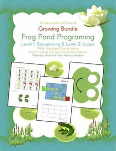 ****** Special Introductory Price!!! Get both Level 1 & Level 2 for less than the cost of just one level. Also, get all future levels in this growing bundle! ******Help your students develop programing skills with a hands-on activity.This Bundle currently contains:Level 1: Sequences (Frog Programing: Level 1 Sequences - A STEM Coding Activity)Level 2: Loops (Frog Programing: Level 2 Loops - A STEM Coding Activity)Look at the links above for more specific details and pictures for each leve...