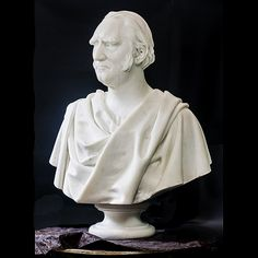 This marble statuary bust of Francis Wayland is from Brown University's Hay Library Reading Room. We rebuilt and reconnected his base, or socle, and several other broken parts, cleaned him and assisted his reinstallation.