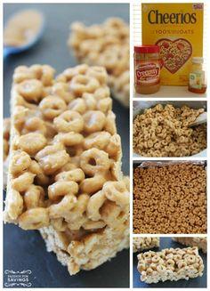 Peanut Butter Cheerio Bars Recipe! | http://www.passionforsavings.com/2015/07/peanut-butter-cheerio-bars-recipe/