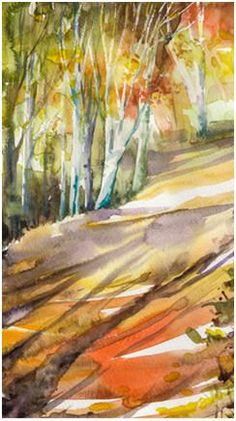 Learn how to paint beautiful landscape, seascape and nature scenes with watercolors. Follow free step-by-step demonstrations by talented artists.
