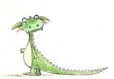 Watercolor Art and illustration Character Design Cartoon, Character Design Tutorial, Character Design Animation, Character Design References, Dragon Illustration, Monster Illustration, Children's Book Illustration, Puff The Magic Dragon, Cute Dragons