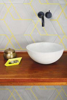 Concrete in the bathroom
