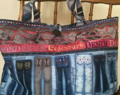 Denim Jean Tote Bag by KhushyLife on Etsy