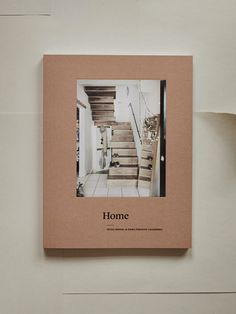 Home - newsletter or magazine cover, book cover inspiration. Great papery and graphic design. Loving the neutral and pale colors and the natural paper texture. Minimalist and modern layout. Font Design, Design Poster, Graphic Design Books, Graphic Design Inspiration, Magazine Design, Minimal Book, Minimalist Layout, Minimalist Design, Design Brochure
