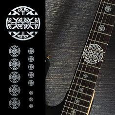 Emblem 12th Fret Markers Set Inlay Sticker For Guitar - Celtic Cross Metallic