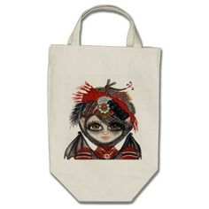 Lucy Kate with Steampunk Party Hat Tote Bag zazzle.com/CapeCodGiftShop