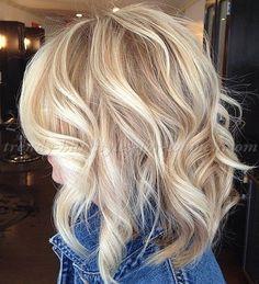 wavy medium length hairstyles, shoulder length hairstyles - medium wavy hairstyle
