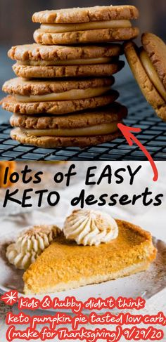 These keto desserts for fall are so good! Now I have some easy keto dessert recipes to make for fall & Thanksgiving! Try the keto pumpkin pie, yum! Plus plenty of keto cakes, keto cookies, keto brownies & more! Low carb desserts! Low sugar sweets & treats that are the BEST!