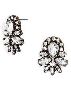 veil crystal stud earrings