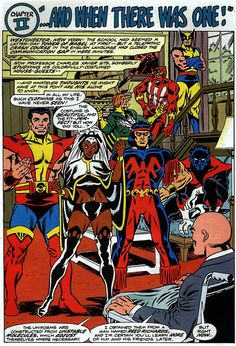 The debut of the All-New, All-Different X-Men in Giant-Size X-Men #1.  Art by by Dave Cockrum.