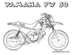 Yamaha 50 Dirt Bike Coloring Page