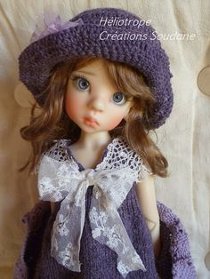 61. ENGLISH or french PDF KNITTING Pattern for msd bjd Kaye Wiggs or Dollstown dolls 18""